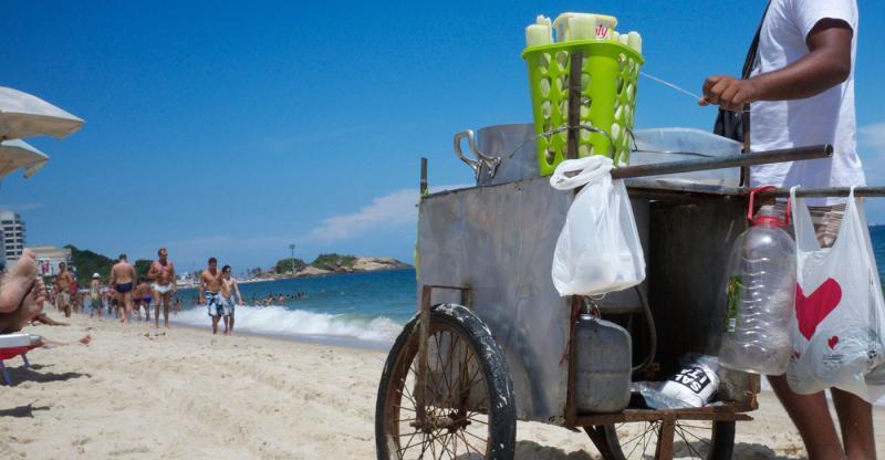 Os riscos com os petiscos de praia