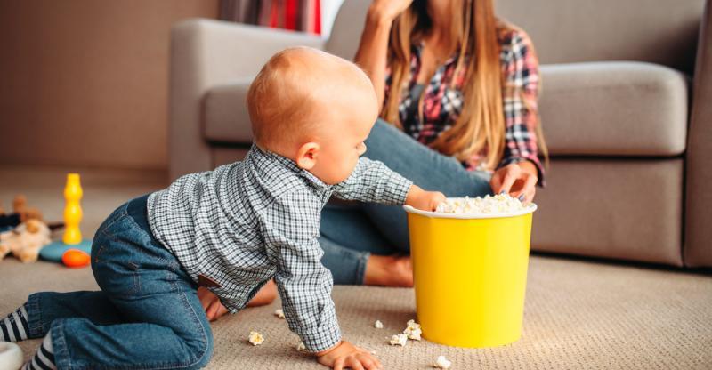 Alerta: O perigo da pipoca para os pequenos